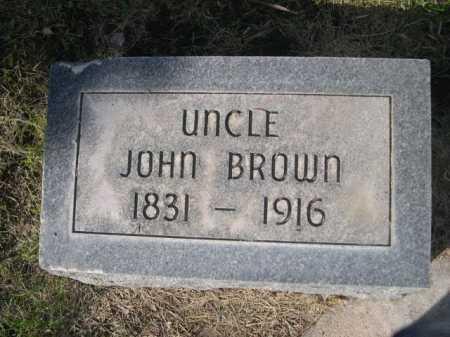 BROWN, JOHN - Dawes County, Nebraska | JOHN BROWN - Nebraska Gravestone Photos