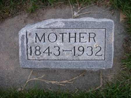 BROWN, MOTHER - Dawes County, Nebraska   MOTHER BROWN - Nebraska Gravestone Photos
