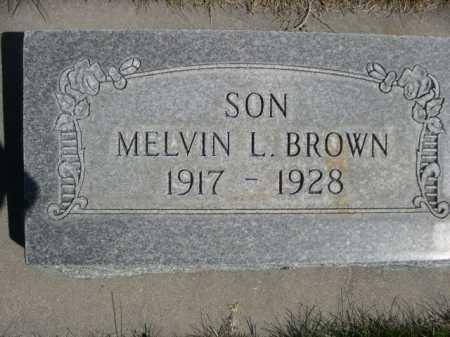 BROWN, MELVIN L. - Dawes County, Nebraska   MELVIN L. BROWN - Nebraska Gravestone Photos