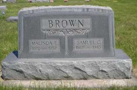 BROWN, MALINDA E. - Dawes County, Nebraska | MALINDA E. BROWN - Nebraska Gravestone Photos