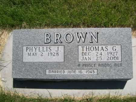 BROWN, THOMAS G. - Dawes County, Nebraska | THOMAS G. BROWN - Nebraska Gravestone Photos