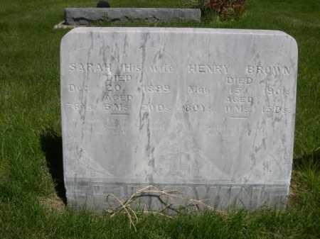 BROWN, HENRY - Dawes County, Nebraska | HENRY BROWN - Nebraska Gravestone Photos