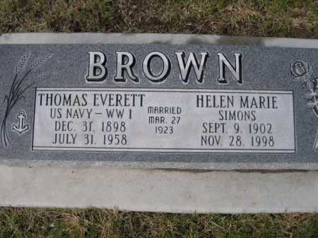 BROWN, THOMAS EVERETT - Dawes County, Nebraska | THOMAS EVERETT BROWN - Nebraska Gravestone Photos
