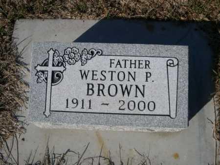 BROWN, WESTON P. - Dawes County, Nebraska | WESTON P. BROWN - Nebraska Gravestone Photos