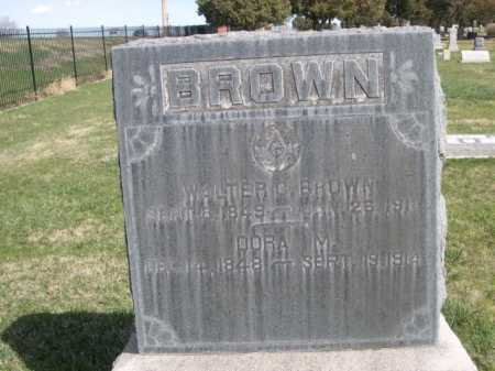 BROWN, WALTER C. - Dawes County, Nebraska | WALTER C. BROWN - Nebraska Gravestone Photos