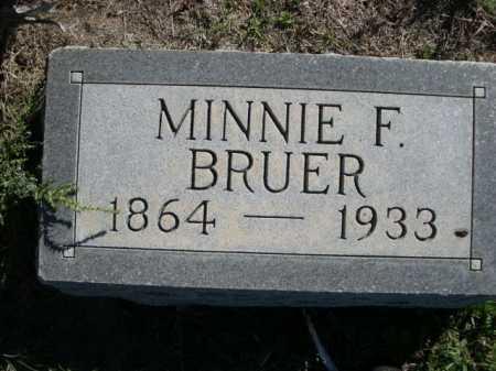 BRUER, MINNIE F. - Dawes County, Nebraska | MINNIE F. BRUER - Nebraska Gravestone Photos