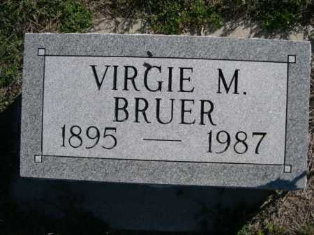 BRUER, VIRGIE M. - Dawes County, Nebraska | VIRGIE M. BRUER - Nebraska Gravestone Photos