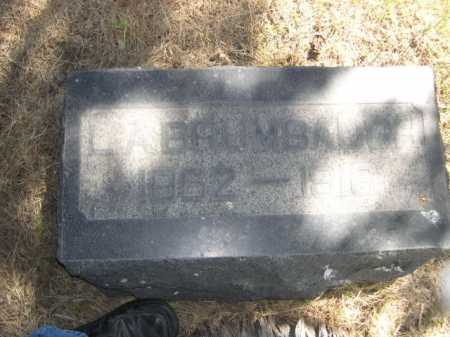 BRUMBAUGH, L.A. - Dawes County, Nebraska | L.A. BRUMBAUGH - Nebraska Gravestone Photos