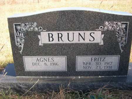BRUNS, AGNES - Dawes County, Nebraska | AGNES BRUNS - Nebraska Gravestone Photos