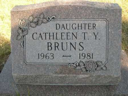 BRUNS, CATHLEEN T. Y. - Dawes County, Nebraska   CATHLEEN T. Y. BRUNS - Nebraska Gravestone Photos