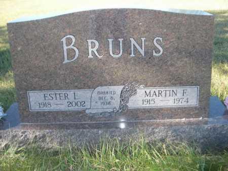 BRUNS, ESTER L. - Dawes County, Nebraska | ESTER L. BRUNS - Nebraska Gravestone Photos