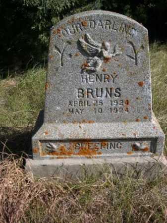 BRUNS, HENRY - Dawes County, Nebraska | HENRY BRUNS - Nebraska Gravestone Photos