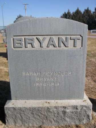 RENOLDS BRYANT, SARAH - Dawes County, Nebraska | SARAH RENOLDS BRYANT - Nebraska Gravestone Photos