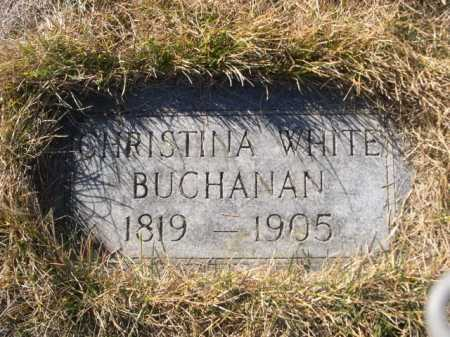 BUCHANAN, CHRISTINA WHITE - Dawes County, Nebraska | CHRISTINA WHITE BUCHANAN - Nebraska Gravestone Photos