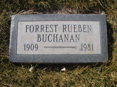 BUCHANAN, FOREST RUEBEN - Dawes County, Nebraska   FOREST RUEBEN BUCHANAN - Nebraska Gravestone Photos