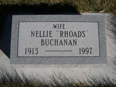 "BUCHANAN, NELLIE ""RHOADS"" - Dawes County, Nebraska | NELLIE ""RHOADS"" BUCHANAN - Nebraska Gravestone Photos"