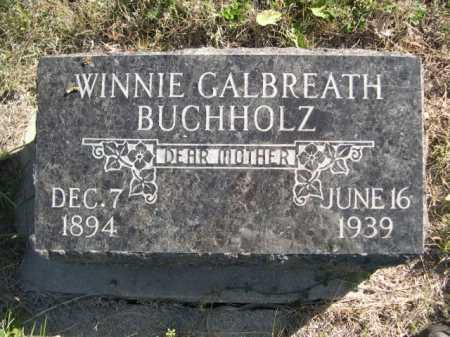 GALBREATH BUCHHOLZ, WINNIE - Dawes County, Nebraska | WINNIE GALBREATH BUCHHOLZ - Nebraska Gravestone Photos