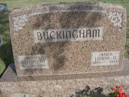 BUCKINGHAM, ELIZABETH - Dawes County, Nebraska | ELIZABETH BUCKINGHAM - Nebraska Gravestone Photos