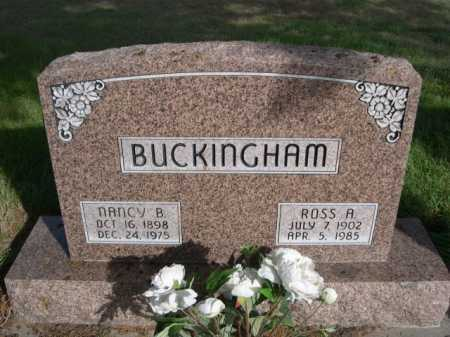 BUCKINGHAM, NANCY B. - Dawes County, Nebraska | NANCY B. BUCKINGHAM - Nebraska Gravestone Photos
