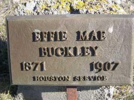 BUCKLEY, EFFIE MAE - Dawes County, Nebraska | EFFIE MAE BUCKLEY - Nebraska Gravestone Photos
