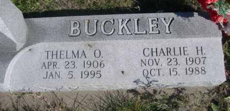 BUCKLEY, CHARLIE H. - Dawes County, Nebraska | CHARLIE H. BUCKLEY - Nebraska Gravestone Photos
