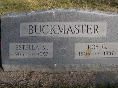 BUCKMASTER, ROY G. - Dawes County, Nebraska | ROY G. BUCKMASTER - Nebraska Gravestone Photos