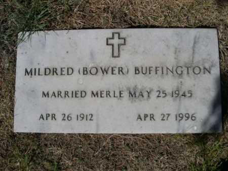 BOWER BUFFINGTON, MILDRED - Dawes County, Nebraska | MILDRED BOWER BUFFINGTON - Nebraska Gravestone Photos