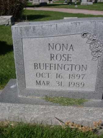 BUFFINGTON, NONA ROSE - Dawes County, Nebraska | NONA ROSE BUFFINGTON - Nebraska Gravestone Photos