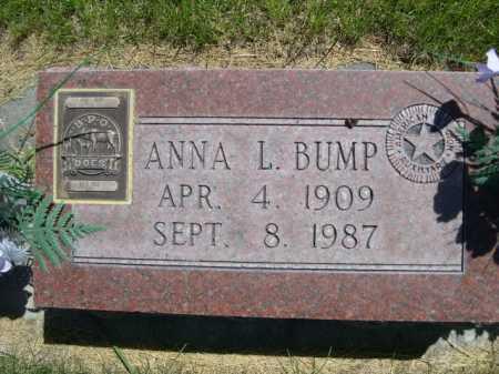 BUMP, ANNA L. - Dawes County, Nebraska | ANNA L. BUMP - Nebraska Gravestone Photos