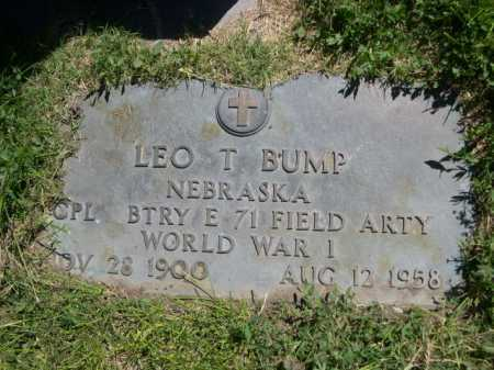 BUMP, LEO T. - Dawes County, Nebraska   LEO T. BUMP - Nebraska Gravestone Photos