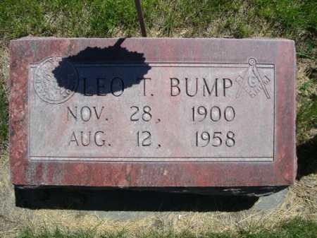 BUMP, LEO T. - Dawes County, Nebraska | LEO T. BUMP - Nebraska Gravestone Photos