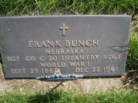 BUNCH, FRANK - Dawes County, Nebraska | FRANK BUNCH - Nebraska Gravestone Photos