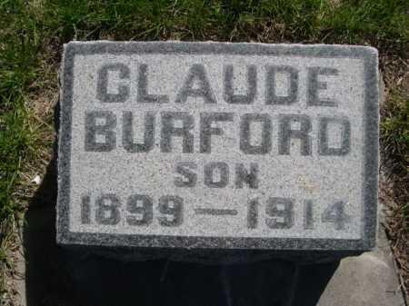 BURFORD, CLAUDE - Dawes County, Nebraska   CLAUDE BURFORD - Nebraska Gravestone Photos