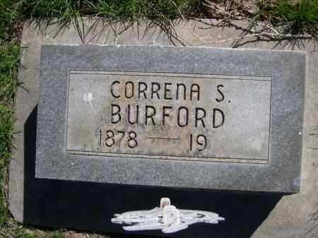 BURFORD, CORRENA S. - Dawes County, Nebraska | CORRENA S. BURFORD - Nebraska Gravestone Photos