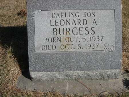 BURGESS, LEONARD A. - Dawes County, Nebraska | LEONARD A. BURGESS - Nebraska Gravestone Photos