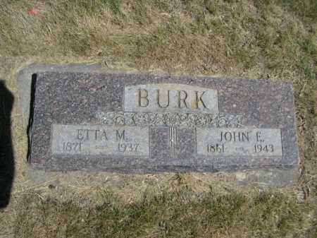 BURK, JOHN E. - Dawes County, Nebraska | JOHN E. BURK - Nebraska Gravestone Photos