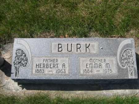 BURK, HERBERT A. - Dawes County, Nebraska | HERBERT A. BURK - Nebraska Gravestone Photos