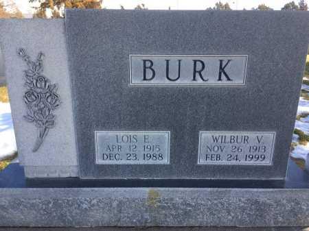 BURK, WILBUR V. - Dawes County, Nebraska   WILBUR V. BURK - Nebraska Gravestone Photos