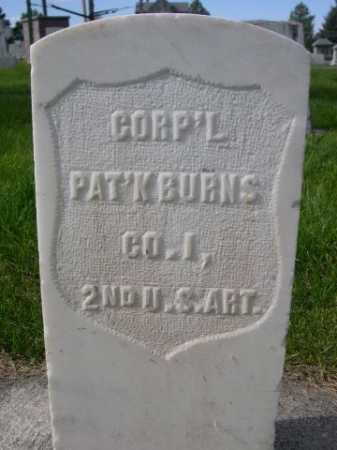BURNS, PAT'K - Dawes County, Nebraska   PAT'K BURNS - Nebraska Gravestone Photos