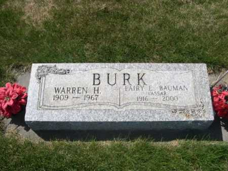 BURK, WARREN H. - Dawes County, Nebraska | WARREN H. BURK - Nebraska Gravestone Photos