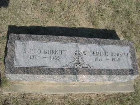 BURKITT, W. DEMING - Dawes County, Nebraska | W. DEMING BURKITT - Nebraska Gravestone Photos