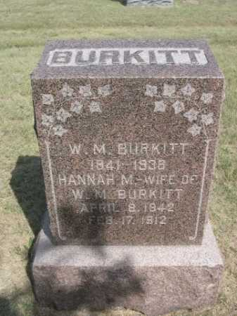 BURKITT, HANNAH M. - Dawes County, Nebraska | HANNAH M. BURKITT - Nebraska Gravestone Photos