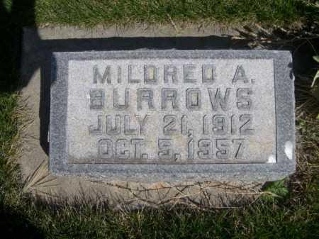 BURROWS, MILDRED A. - Dawes County, Nebraska | MILDRED A. BURROWS - Nebraska Gravestone Photos