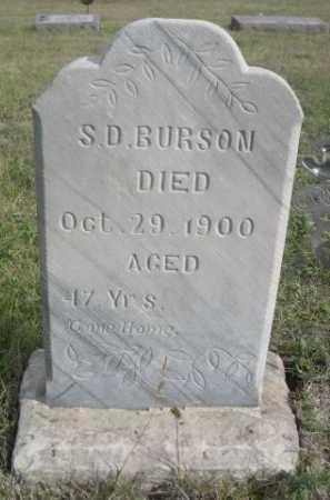 BURSON, S.D. - Dawes County, Nebraska   S.D. BURSON - Nebraska Gravestone Photos
