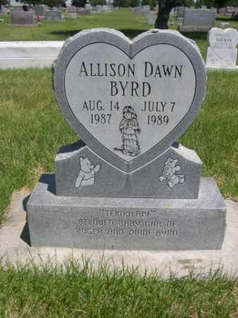 BYRD, ALLISON DAWN - Dawes County, Nebraska | ALLISON DAWN BYRD - Nebraska Gravestone Photos