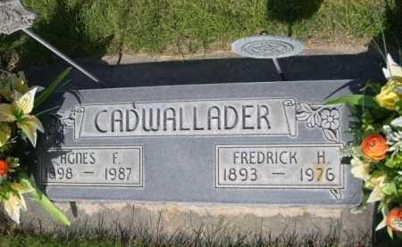 CADWALLADER, AGNES F. - Dawes County, Nebraska | AGNES F. CADWALLADER - Nebraska Gravestone Photos