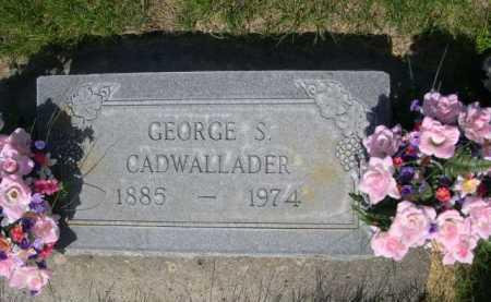CADWALLADER, GEORGE S. - Dawes County, Nebraska   GEORGE S. CADWALLADER - Nebraska Gravestone Photos
