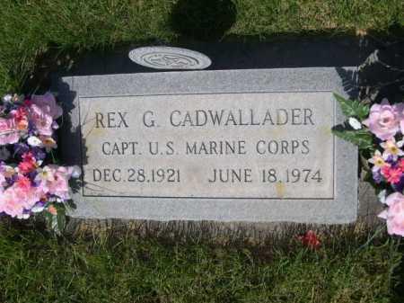 CADWALLADER, REX G. - Dawes County, Nebraska   REX G. CADWALLADER - Nebraska Gravestone Photos