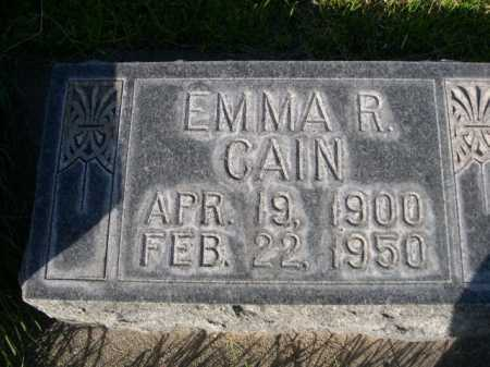 CAIN, EMMA R. - Dawes County, Nebraska | EMMA R. CAIN - Nebraska Gravestone Photos