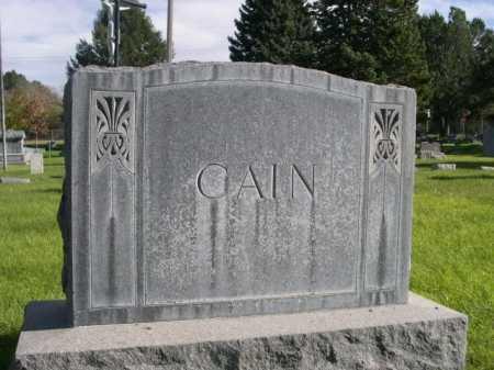 CAIN, FAMILY - Dawes County, Nebraska | FAMILY CAIN - Nebraska Gravestone Photos